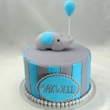 Baby Elephant and Balloon Cake (D,V)