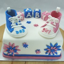 Baby Sneakers Cake (D, V)