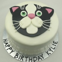 Cat: Fondant with Flat Cat Topper (D,V)