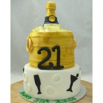Champagne in Bucket Cake (D,V)