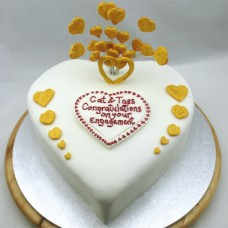 Engagement Cake Heart Shaped (D)