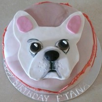 Dog: Fondant with Flat French Bulldog Topper (D,V)