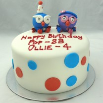 Giggle and Hoot Cake (D, V)