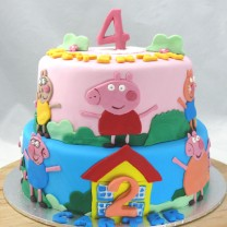 Peppa Pig and Friends Cake (D, V)
