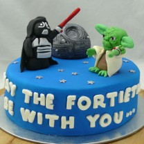 Star Wars Cake: Darth Vader, Yoda, Death Star  (D,V)