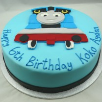 Thomas the Tank Engine Flat Topper Fondant Cake (D, V)