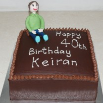 Ganache with Fondant Figurine