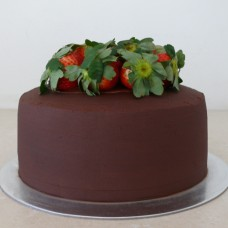 Ganache cake with Fresh Strawberries