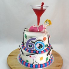 2 Tier Cocktail Cake (D,V)