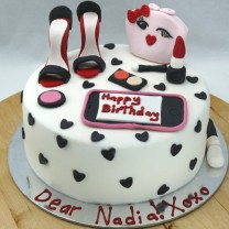 Girlie Face Bag Makeup Cake (D,V)