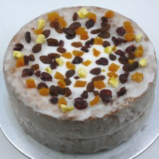 Glazed Cake with Dried Fruit (D)