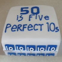 50 is 5 Perfect 10s Cake (D, V)