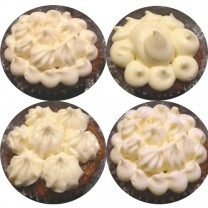 CupCakes with White Buttercream ($35 per dozen) (D,V)