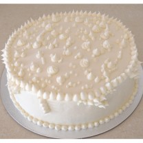 Buttercream Icing with Buttercream Pointy Dots (D, V)