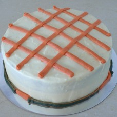 Carrot Cake with Cream Cheese Stripes