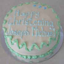Christening Cake: Buttercream (D, V)