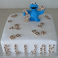 Cookie Monster Cake (D, V)