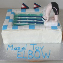 Swimming Pool Cake with Diver (D)