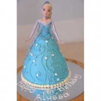 Princess Cake:  Elsa Buttercream Skirt (D)