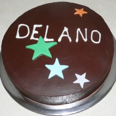 Design your own cake: Ganache with Stars (D)