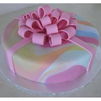 Gift Box: Tie Dye Coloured Bow (D,V)