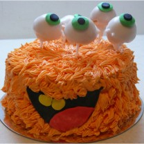 Halloween Orange Monster Cake