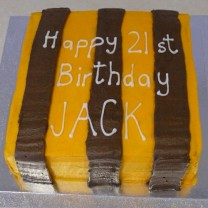 Sports Club Coloured Striped Cake (D, V)