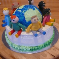 "International Charity Day Cake 10"" (D)"