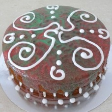 Design your own cake: Two Tone Glazed Cake (D,V)