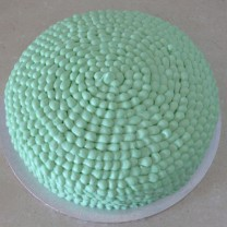 Buttercream Icing with Buttercream Petals One Colour (D, V)