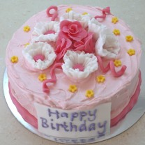 Pink Happy Birthday Cake (D, V)