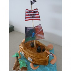 Pirate Cake being attacked by Giant Octopus (D)