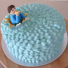 Buttercream Petals with a Person Popping Out (D, V)