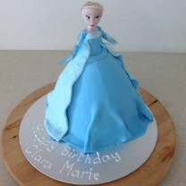 Princess Cake Elsa: Fondant Covered (D)