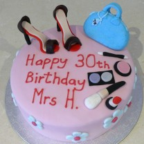 Girlie Shoe Makeup Cake (D,V)