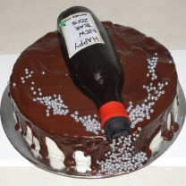 Celebration Cake: Wine Bottle