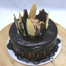 Chocolate Shard cake: Drip Chocolate with Freckles