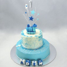 Christening Train Cake 2 Tier (D,V)