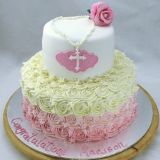 First Holy Communion Cake 2 Tier (D)