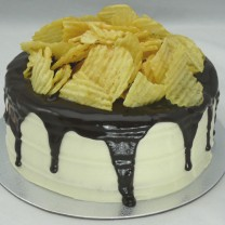 Chips on Chocolate Drip Cake (V)