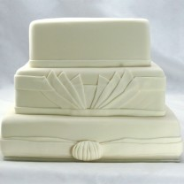 Wedding Cake Art Deco One Colour (D)